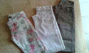 Jeans elatizados chupin talle 36 y 38