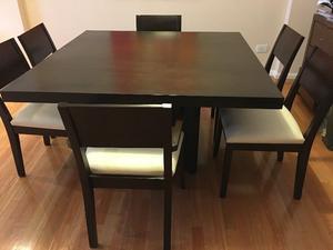 Juego De Comedor - Mesa y 6 sillas - Excelente Estado