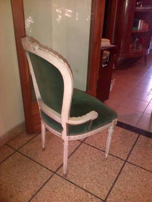 Juego de 6 sillas estilo Fancés Luis XVI