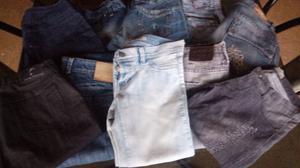 Lote de 10 jeans