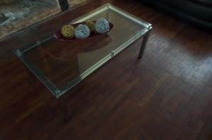 Mesa ratonera de vidrio, living, sala de estar...