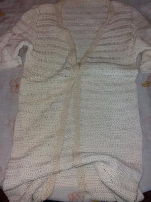 Saquito de hilo tejido a crochet
