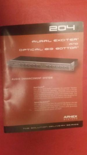 Aphex Aural Exciter 204 Manual De Usuario Envios Al Interior