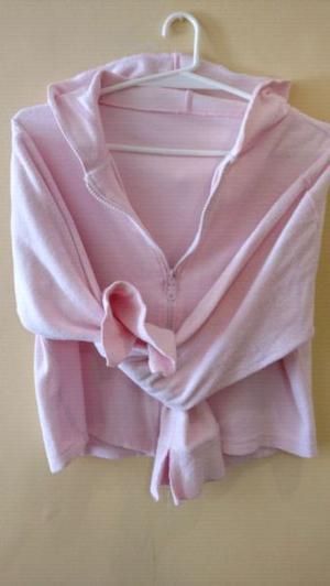 Camperita canchera de algodón con cierre, color Rosa