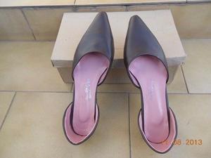 Hermosos Zapatos-chatita Stilletos Nº 37 Marron $200