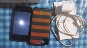 IPHONE 4S 8 GB EN CAJA CON CARGADOR Y FUNDA