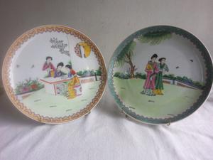 Platos decorativos porcelana oriental