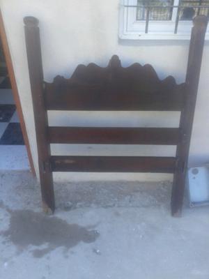 Respaldo cama algarrobo 1 pza