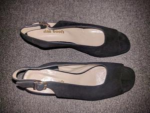 Sandalias De Gamuza Mujer