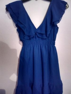 Vestido azul Francia talle 2