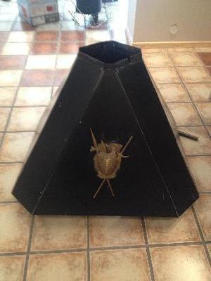 campana de chapa para hogar octogonal con tiraje