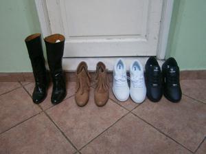 zapatillas nº 37 marca signia de cuero nuevas