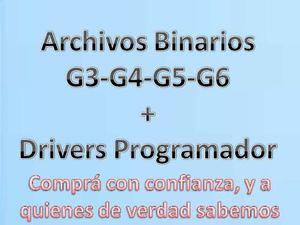 Archivos Binarios G3 G4 G5 G6 + Drivers Programador