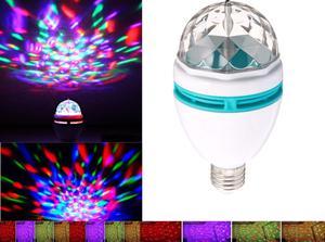 Lampara luz led giratoria 4 colores dj fiestas