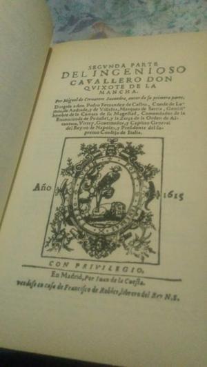 Libro Don Quijote De La Mancha Tomo 1 y 2