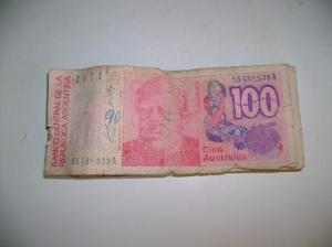 Lote De 13 Billetes De 100 Australes