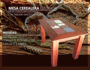 Mesa Cerealera C/vidrio