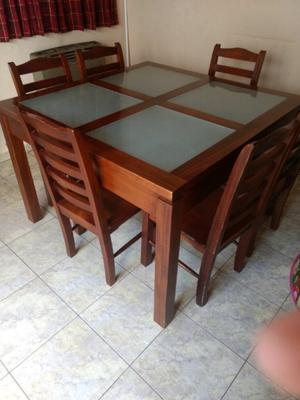 Mesa con sillas para comedor