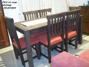 NUEVO A ESTRENAR !! Mesa y 6 sillas !! Flete sin cargo !!