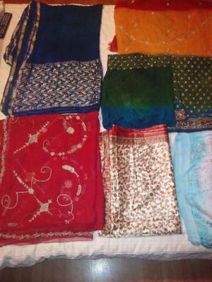 Saris o telas de la India Auténticos de Gasa o Seda