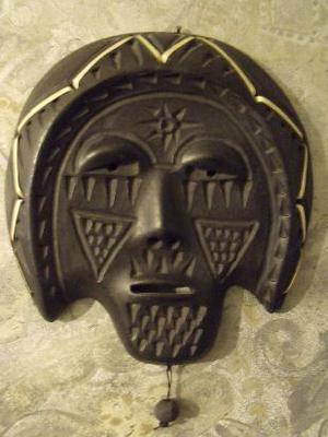 figura decorativa cara de indio