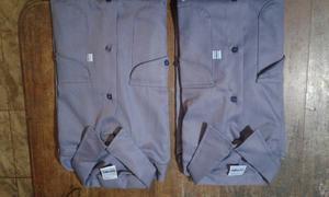 Camisas Ombu azules mangas largas talle 44, Cada una.