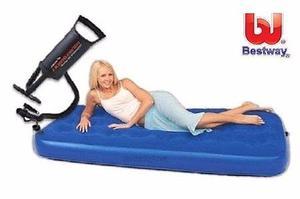 Colchon inflable 1 plaza + inflador producto nuevo, envios