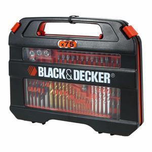 Set 75 de mechas y puntas Black and Decker NUEVO