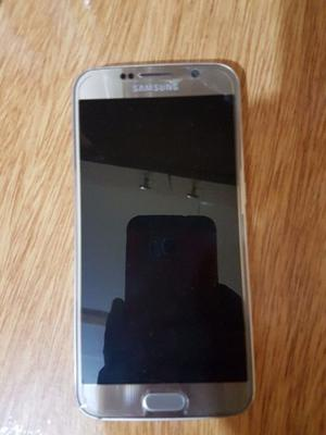 Vendo s6 flat liberado en buen estado version gold