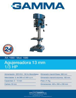 Agujereadora de Banco 13 mm 1/3 HP Gamma Mod.