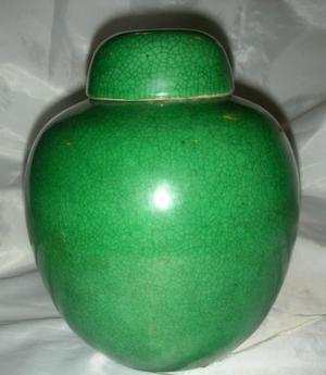 Antiguo Potiche de jengibre te Chino Jinger Jar celadon