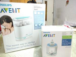 Esterilizador Avent + Calentador de mamaderas. Usados.