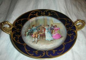 Limoges: Antiguo centro de mesa firmado Orly France