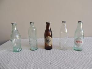 Lote 5 Botellas Coca Cola Colección Antiguas