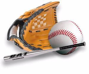 Set Baseball Guante Softbol + Bate Beisbol + Pelota Softball