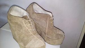 Zapatos,tipo botinetas Gamuzados