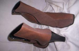 botas media caña, nuevas,t 38, beige cuero y gamusa$900