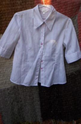 camisa orix t2 de mujer rayada,poco uso¡¡buenisima$100