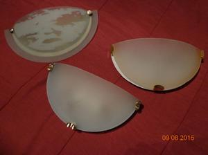 lote de 3 difusores de vidrio