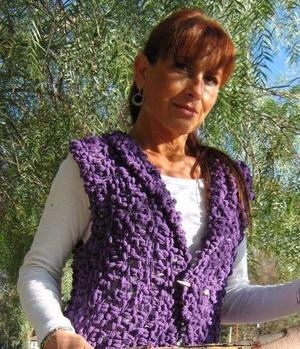 Angeles Velazco tejidos telar