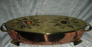 Antigua Fuente/ Calentador cobre / bronce,a velitas Fees