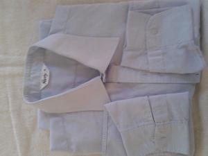 Camisa raphy tela muy fina M Larga,cuello 41 blanca