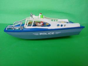 Lancha De Policia Para Agua Cop Con Piloto Plas-toy