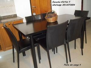 Liquido Hoy Hermoso comedor 6 sillas MODERNO !!! flete SIN