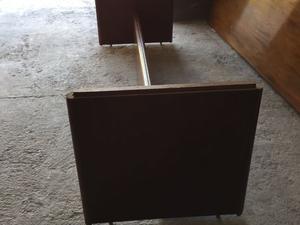 Mesa larga antigua Larga estilo inglés con base M buen