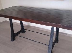 Mesa patas de hierro fundido