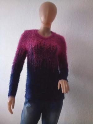 Sweater peludo elastizado