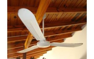 Ventilador de techo con aplique de luz