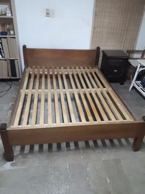 Cama de madera de roble 2 plazas en muy buen estado