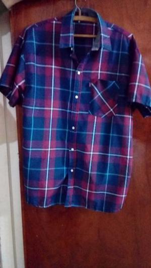 Camisa de hombre escocesa t.L impecable un solo uso.